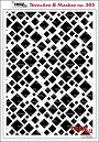 Stencil met vierkanten van verschillende grootte. Stencil with squares of different sizes.