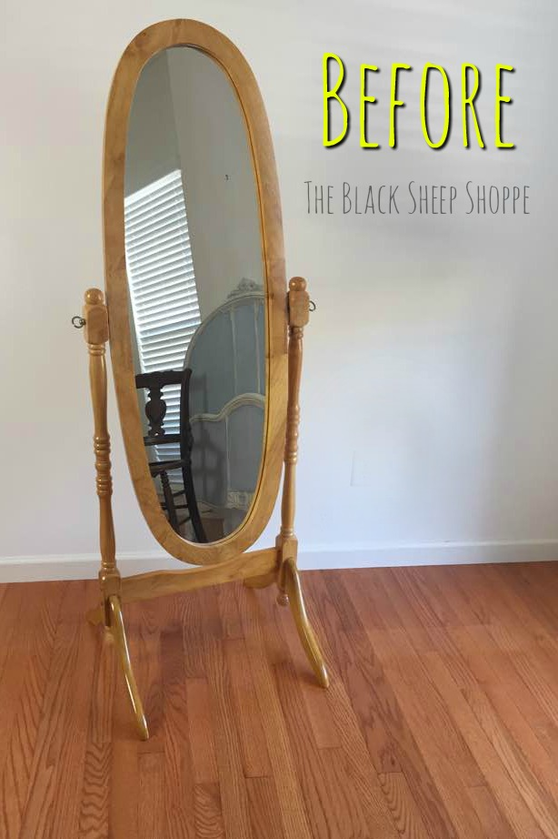 Cheval Mirror Painted For An Antiqued Look