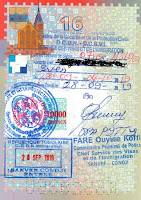 Many stamps in the Togo tourist visa