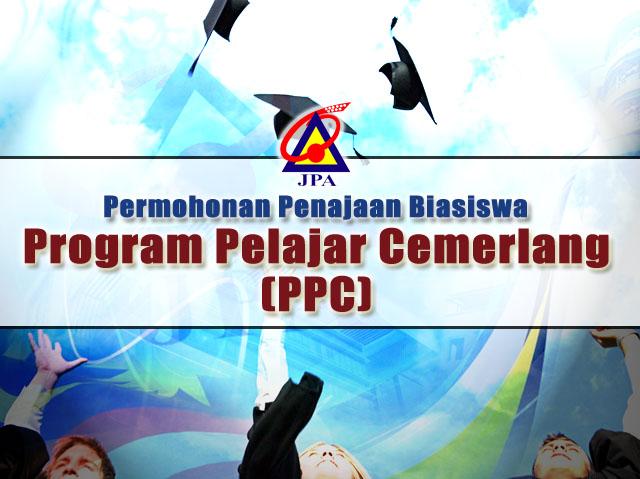 Permohonan Program Penajaan Biasiswa JPA Pelajar Cemerlang (PPC)