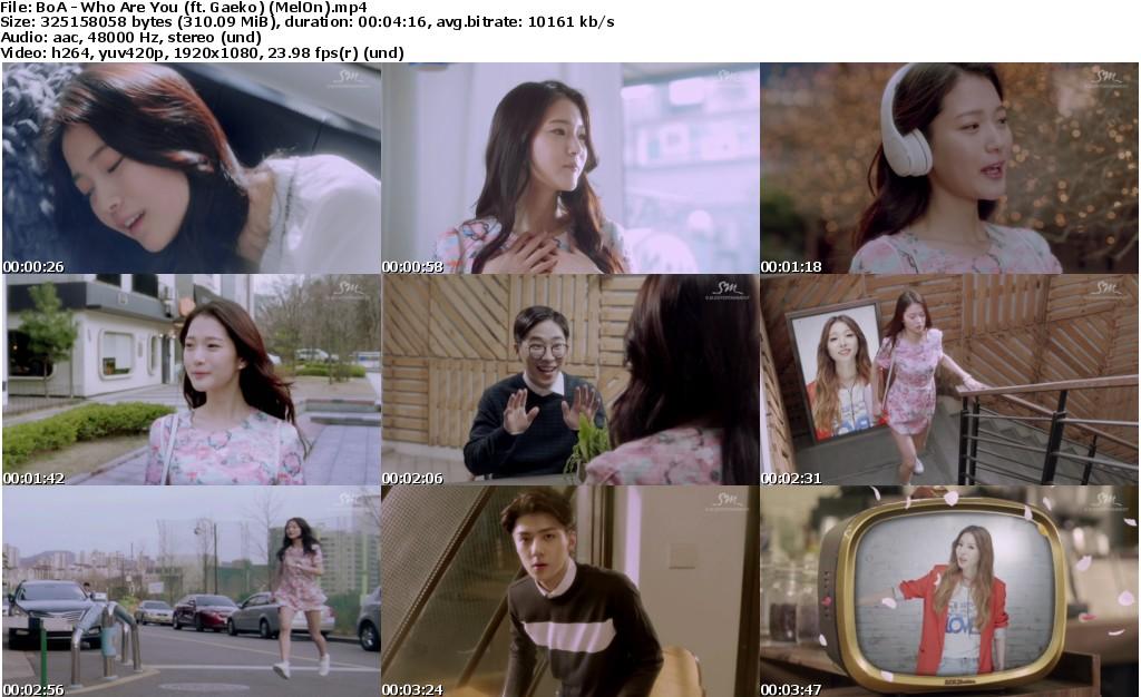 BoA ,Who Are You , Gaeko , MelOn , 권보아 , 1080p , Kpop