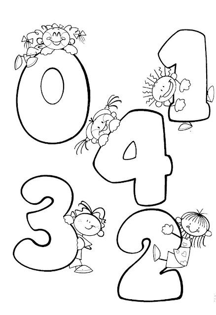 Los Numeros Del 1 Al 10 Para Colorear Animados Imagui
