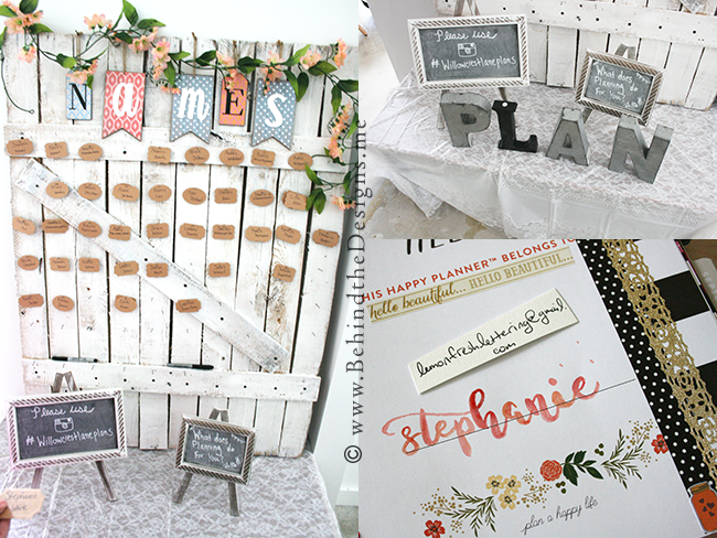 Willowcrest Lane Planner Workshop -Handcrafted Name Board -Wood Metal Initials -Calligraphy Hand Lettering -Behind the Designs Recap