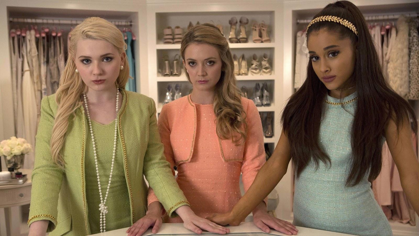 Abigail Breslin, Ariana Grande, Billie Lourd, Scream Queens, 4K, TV Series