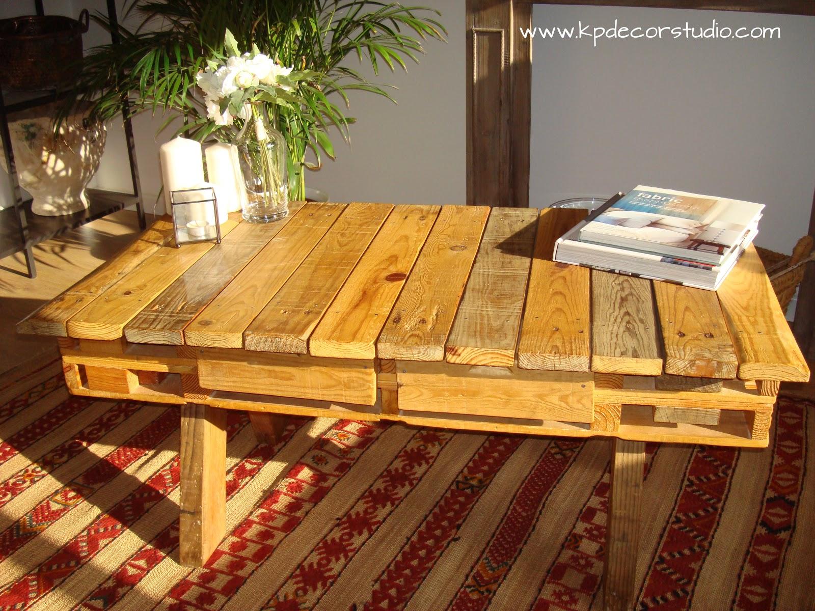 Kp decor studio mesa de madera palet por encargo - Comprar decoracion vintage ...