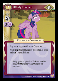 My Little Pony Utterly Drained Absolute Discord CCG Card