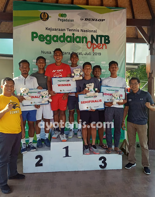Rifqi Fitriadi/Arief Rahman Sabet Gelar Juara Tennis Pegadaian Open 2019