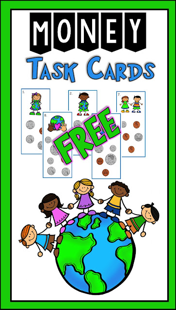 Free task cards for second grade