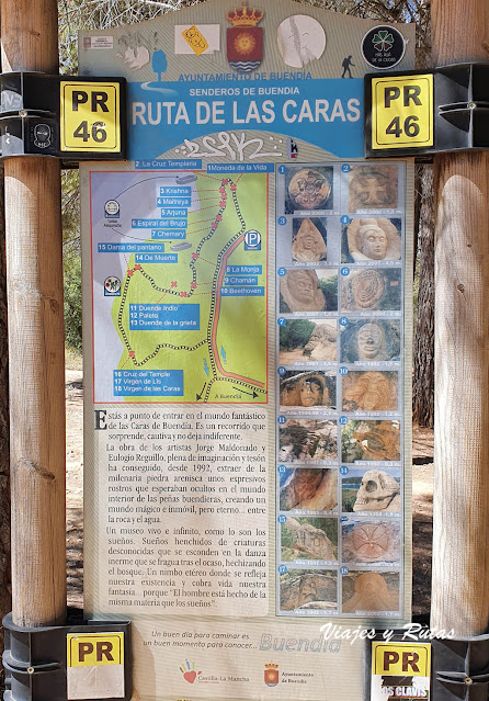 Cartel de la Ruta de las caras de Buendía, Cuenca