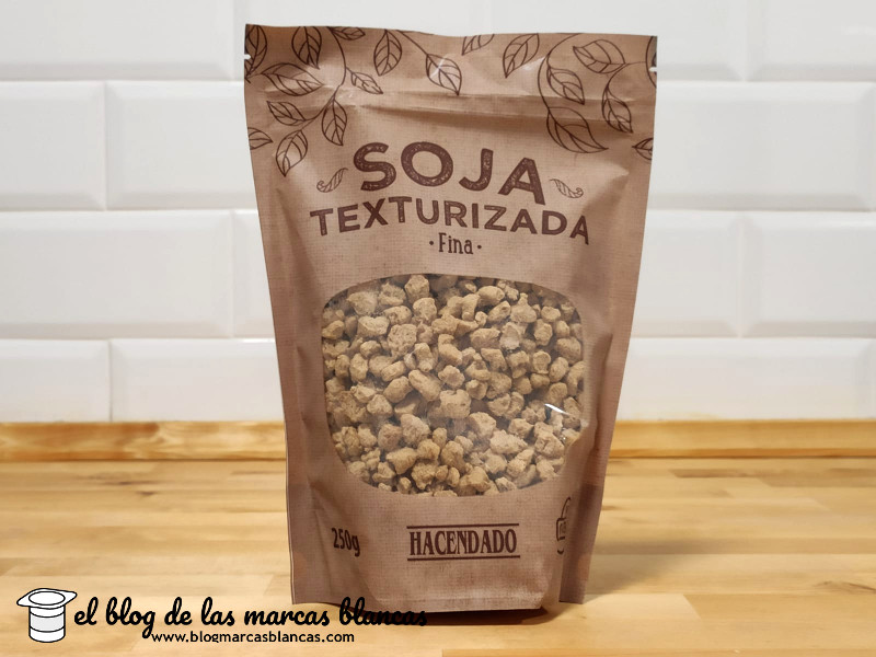 Proteína de soja texturizada de grano fino Hacendado de Mercadona en el blog de las marcas blancas.