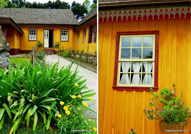 Casa típica da Colônia Witmarsum, comunidade amish no Paraná