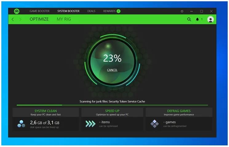 Razer Cortex : Βελτιώστε την απόδοση του υπολογιστή σας στα παιχνίδια