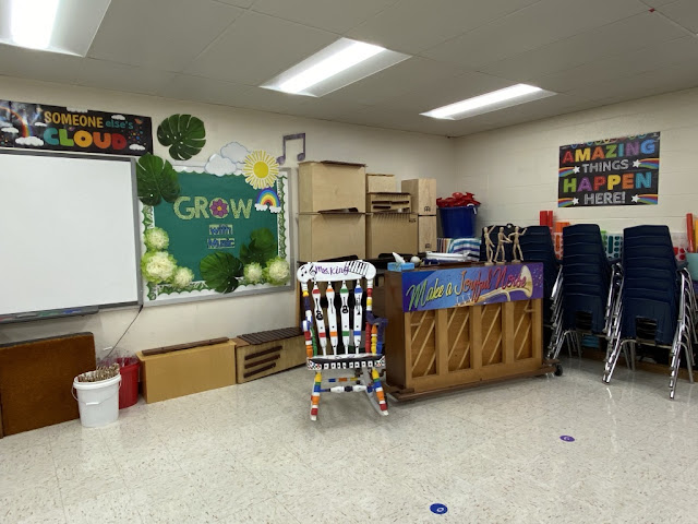 music classroom, music decor, grow with music, music bulletin board, plant theme, boho, music teacher