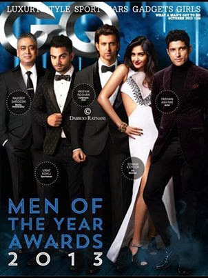 Hrithik, Sonam, Virat & Farah For GQ India 2013 Men Of The Year Cover