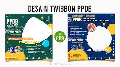 Desain Twibbon PPDB CDR