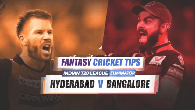 SRH vs BLR Dream11 Fantasy CricketTips