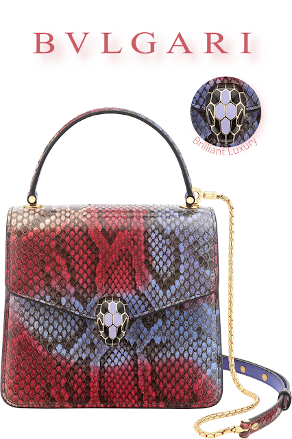 Bvlgari Serpenti Forever top handle bag in multicolor chimera python skin #brilliantluxury