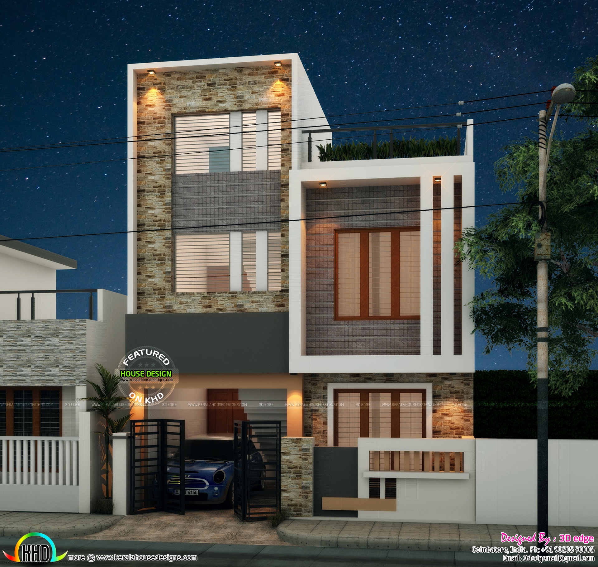 Kerala Home Design 900 Sq Feet Part - 46: Square Feet Details. Ground Floor Area : 900 Sq.ft. First Floor Area : 900  Sq.ft. Total Area : 1800 Sq.ft. Bedrooms : 4. Design Style : Modern Flat  Roof