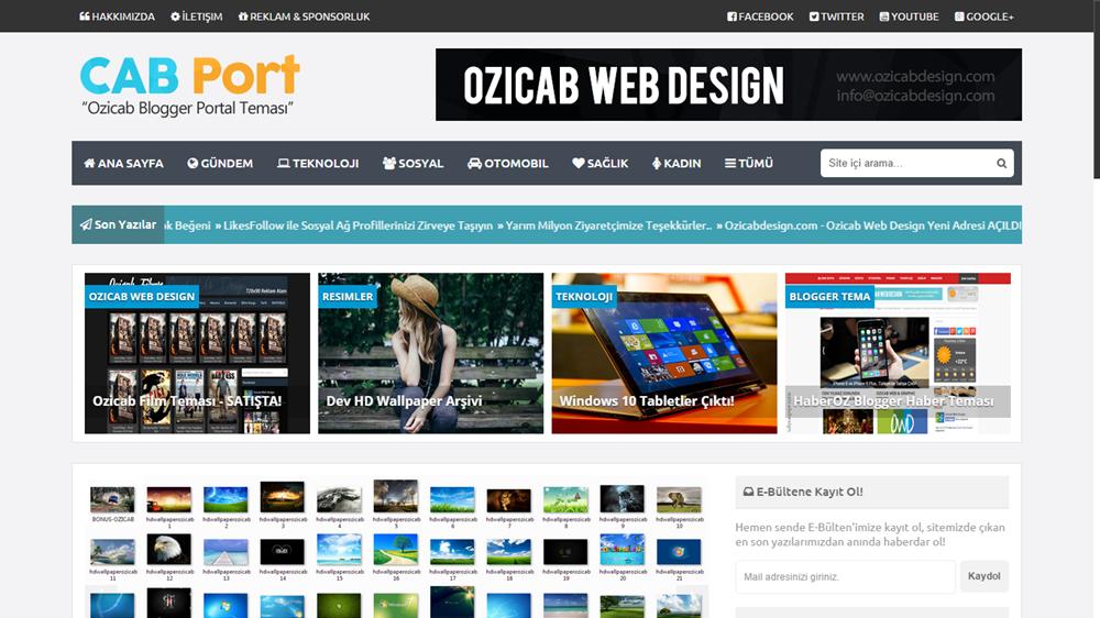 CABPort Blogger Portal Temasi