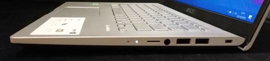 sisi kanan ASUS VivoBook A409FJ
