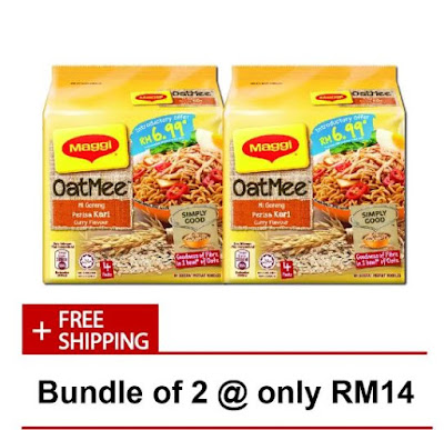 maggi oatmee,azada, lazada box of joy, lazada online revolution, online revolution, box of joy, diskaun, nestle, nescafe, maggi, maggi tom yam, loreal, tefal, cara untuk mendapatkan lazada box of joy, mamy poko,