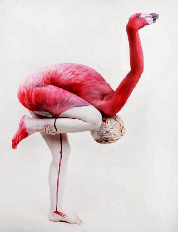 Body paint simulando animales.