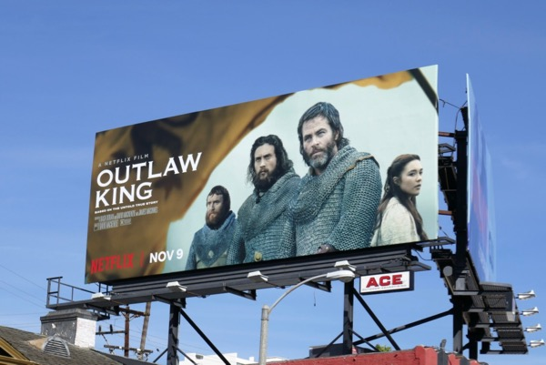 Outlaw King movie billboard