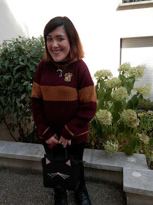 look automnal inspiré d'Harry Potter Team Gryffindor