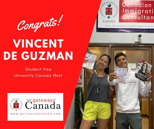 Mr. Vincent De Guzman is going to University Canada West. Congrats!