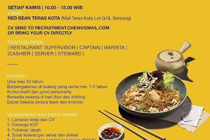 Info Lowongan Kerja Red Bean Tangerang