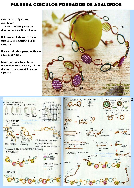 pulseras, alambres, abalorios, bisutería, manualidades
