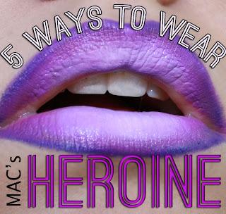 Ways to wear Mac's Heroine Lipstick | 3D Lipstick | Pretty in Pigment| Makeup Blog
