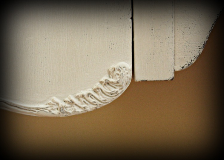 Re-created decorative trim with wood filler and pastry bag/tip