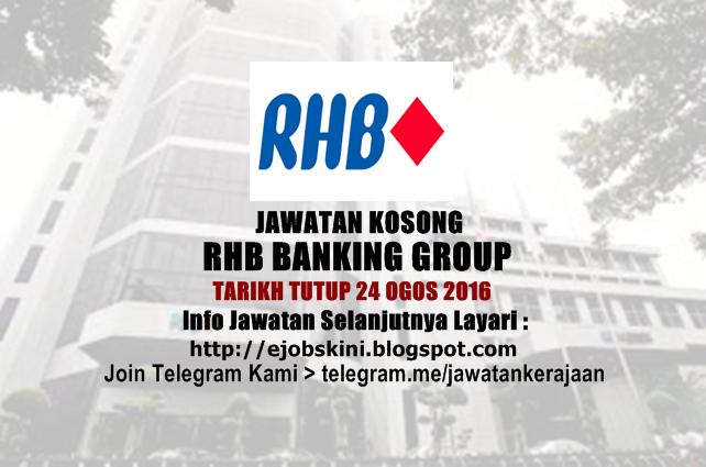 Jawatan Kosong RHB Banking Group Ogos 2016