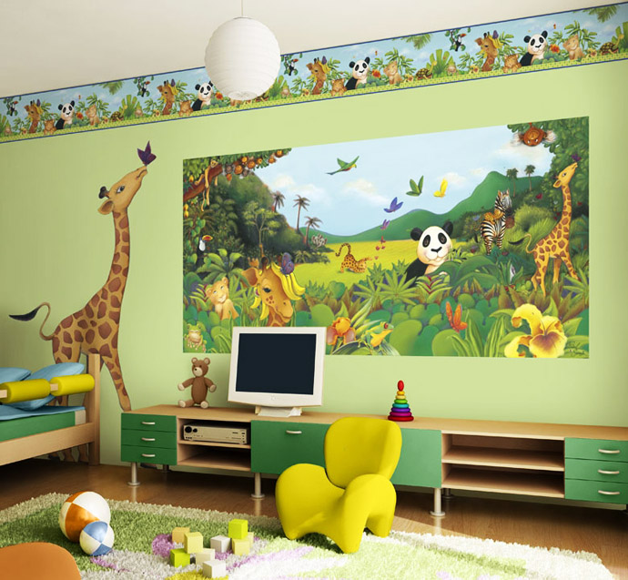 Fun Kids Rooms: Home Decoration: Five Fun Painting Ideas For Kids Rooms