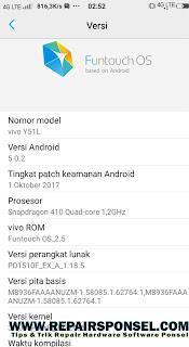 Cara Mengetahui Model dan Versi Android Vivo Smartphone