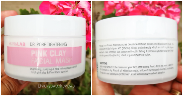 SKIN&LAB Dr. Pore Tightening: Pink Clay Facial Mask