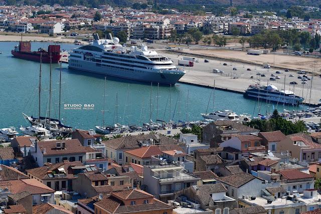 """LE LYRIAL"":  Ένα «Comfort Class» κρουαζιερόπλοιο έδεσε στο Ναύπλιο"