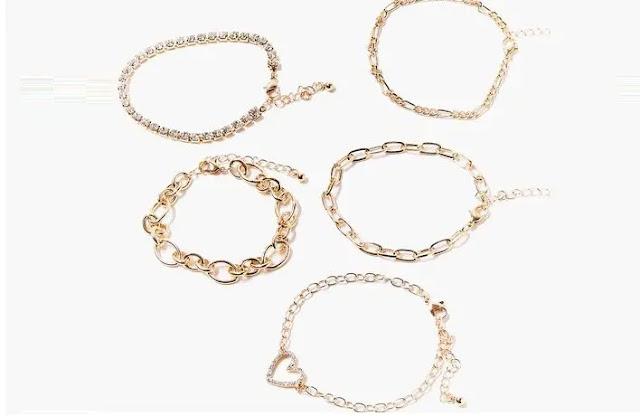 3- Heart Charm Bracelet Set