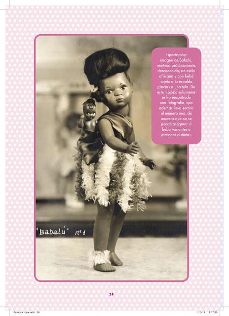 Muñeca Babalú, Página interior del libro Las Muñecas de Famosa se dirigen... (1957-1967) de Salud Amores