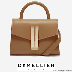 Kate Middleton carries Demellier London Nano Montreal Leather Satchel