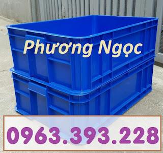 Thùng nhựa đựng linh kiện cao 19, hộp đựng nông sản, sóng nhựa bít HS003