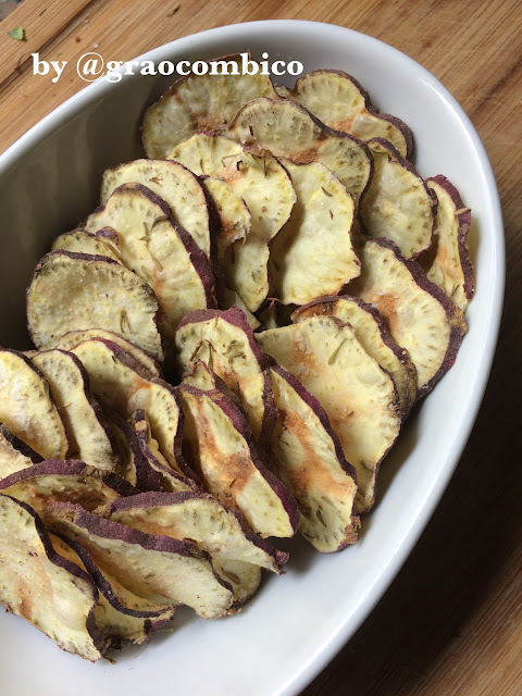 no oil easy and healthy sweet potato chips using microwaves