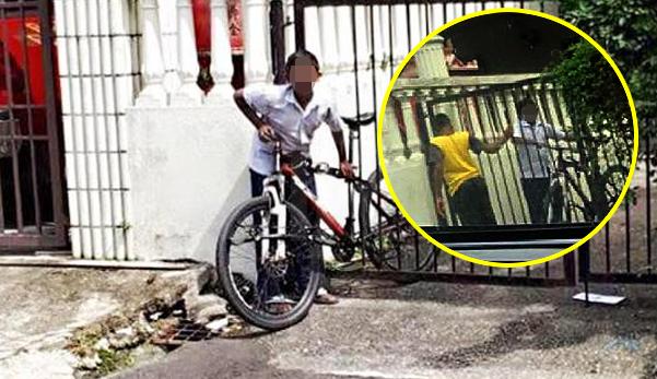 'Ini rumah datuk saya' - Budak kantoi curi basikal
