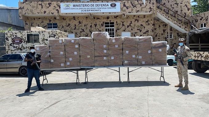 CESFRONT incauta miles de cigarrillos en Dajabón procedente de Haití