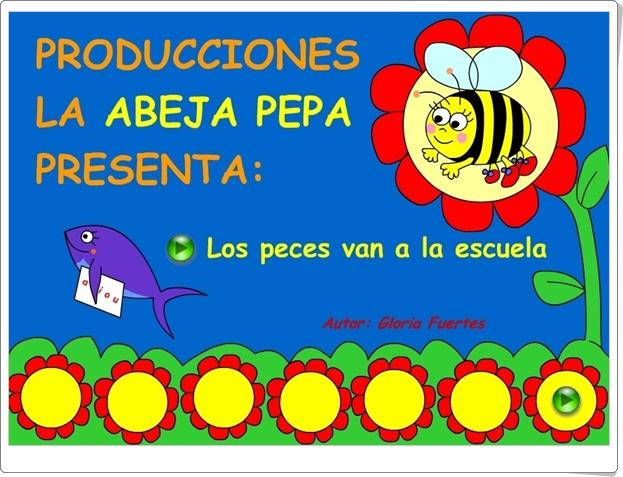 """""""Los peces van a la escuela"""" (Adaptación visual de un poema de Gloria Fuertes)"""