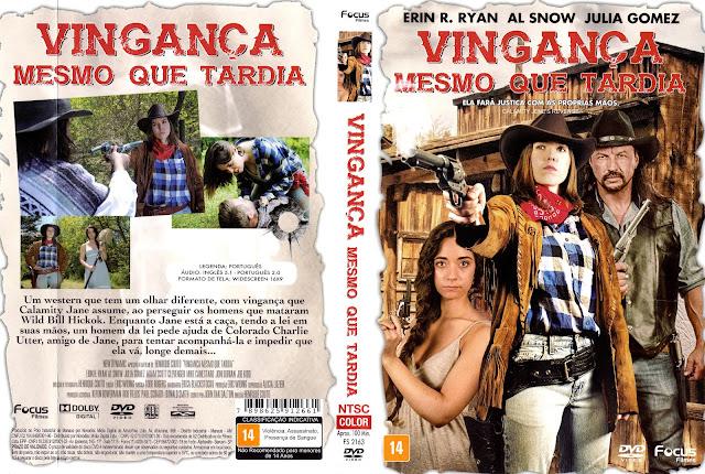 Capa DVD Vingança Mesmo Que Tardia (Oficial)