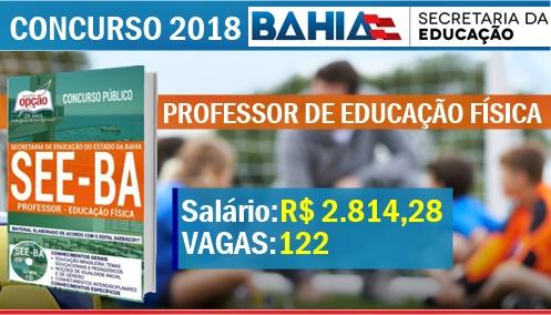 Apostila Concurso SEE-BA 2017/2018 Professor de Educação Física