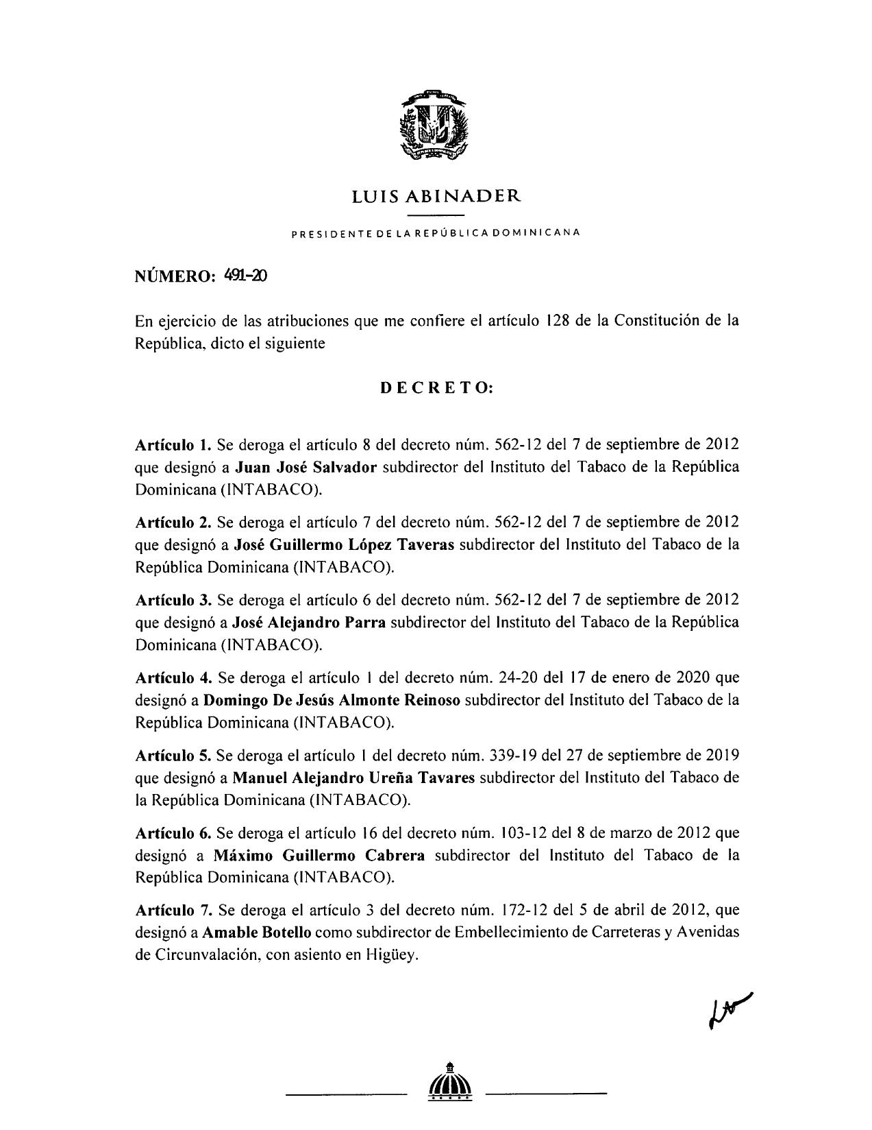 decreto 491-20