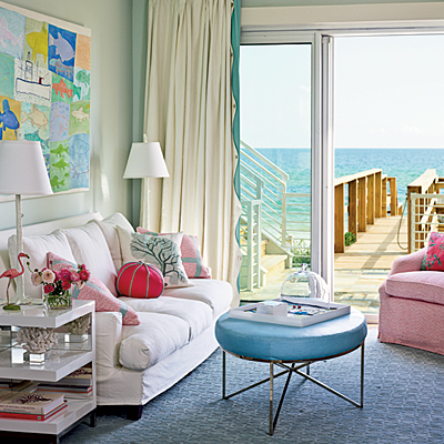 Coastal Pastel Living Room